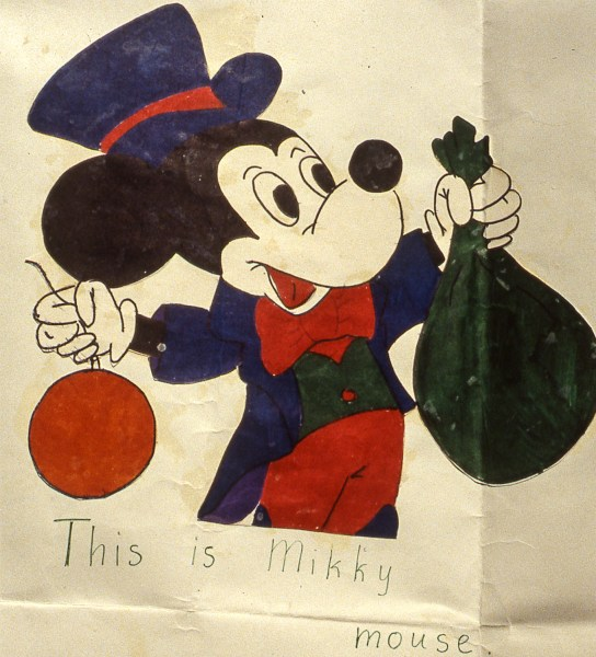 Image of Mickey Mouse drawing