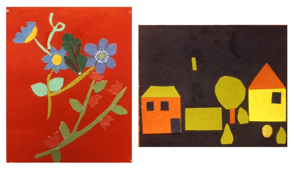 Image of two pieces of children's art from Estonia