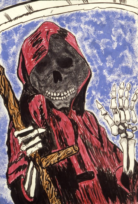 Drawing of the Grim Reaper (Death)