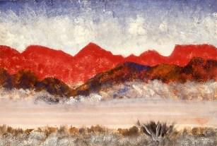 Drawing showing desert landscape
