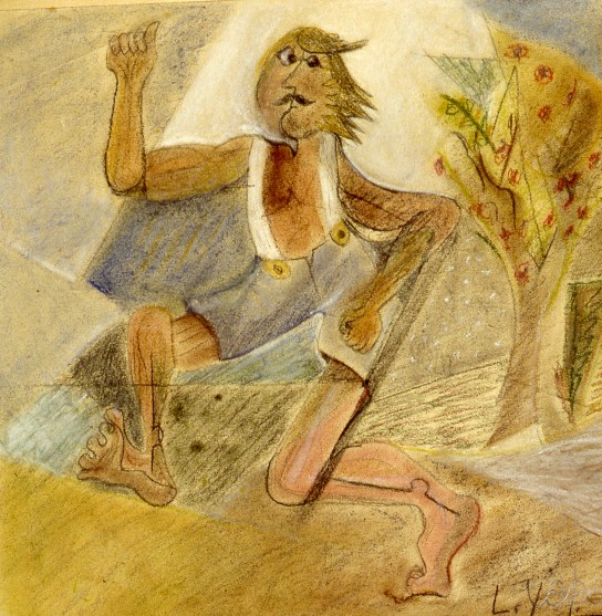 Image of man in shorts running