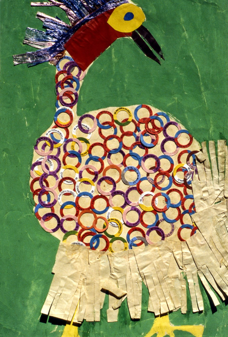 Child's collage image of a turkey