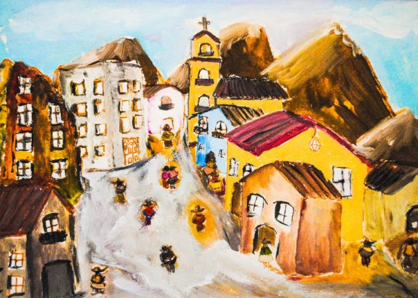 Town in the Andes