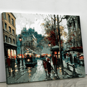 Paris Street Scene by Antoine Blanchard (1910) – Exclusive Design