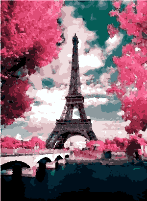 Pink Portrait of Paris