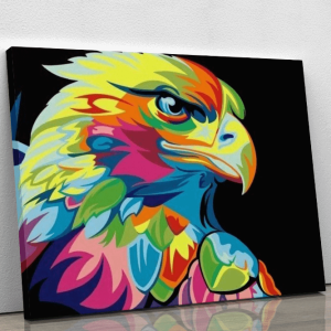 Colorful Abstract Eagle