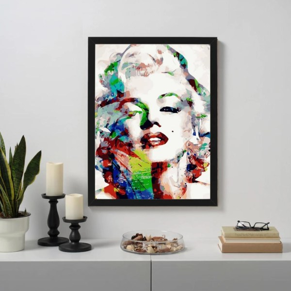 Abstract Marilyn Monroe Paint By Numbers Kits