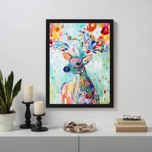 Colorful abstract deer Paint By Numbers