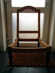 Victorian nursing chair frame