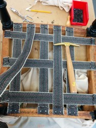 Traditional upholstery webbing