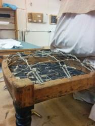 Lashing springs in upholstery
