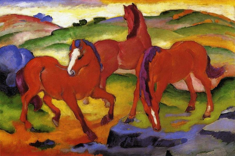 Grazing_Horses_IV,_Three_Red_Horses,_Franz_Marc,_1911