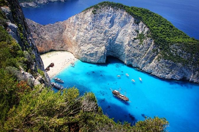 Island Greece Sea Zakynthos Shipwreck Ship