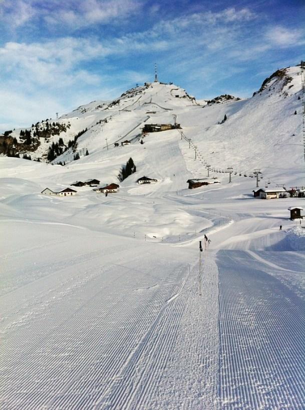 Austria Alps Lane Mountain Ski Snow Kitzbuhel