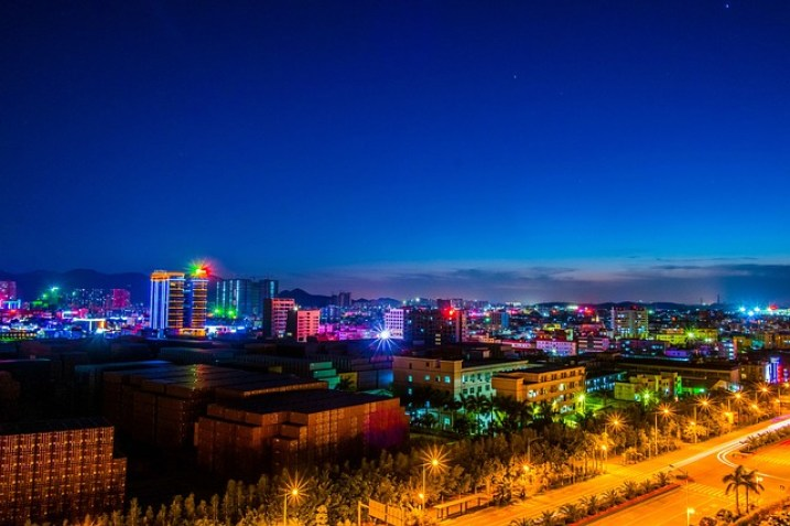 Lights Pingshan Shenzhen Twilight Night View Light
