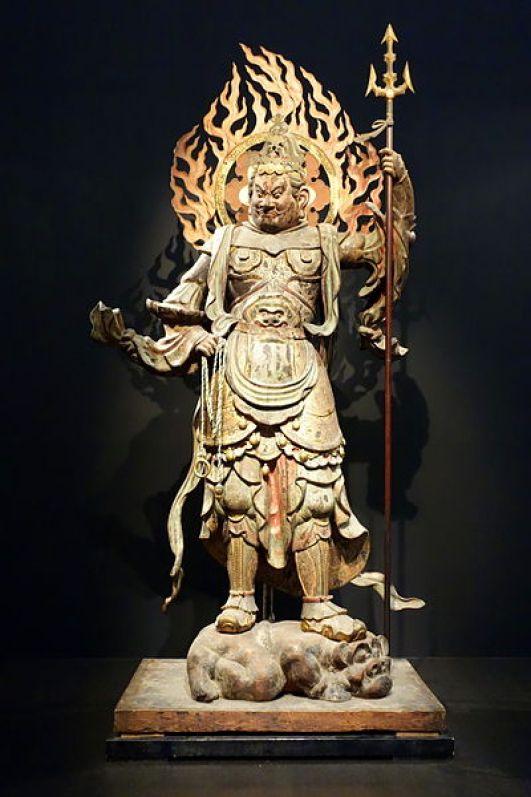 Standing_Komoku_Ten_(Virupakusa),_Heian_period,_12th_century,_wood_with_polychromy_and_cut_gold_leaf_-_Tokyo_National_Museum_-_DSC05100