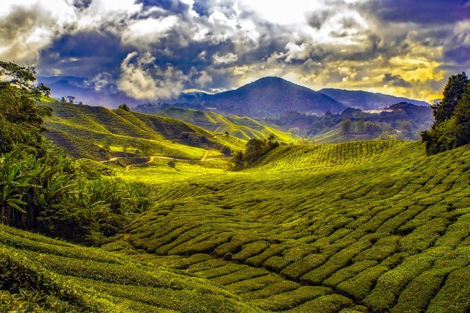 Sky Tropics Clouds Malaysia Fields Mountains