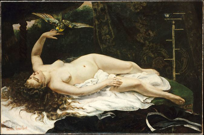 1866_Gustave_Courbet_-_Woman_with_a_Parrot