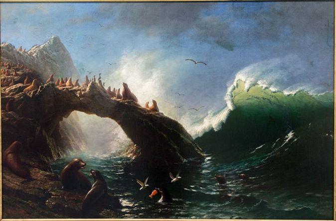 Albert_Bierstadt,_Farallon_Island_1887_Oil_on_Canvas