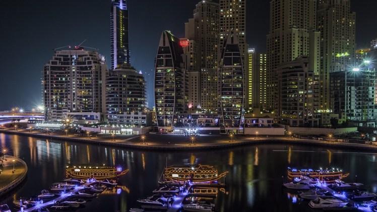 Marina Skyline Uae United Emirates Arab Dubai