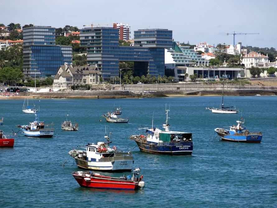 Cascais Boot Ship Fishing Boat Portugal Sea