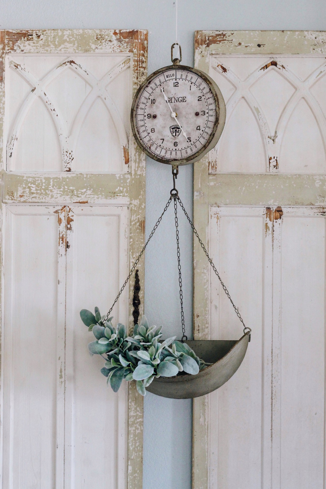 Vintage Reproduction Hanging Produce Scale Clock