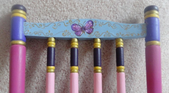 Doll Rocker with butterflies in Princess colors