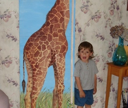 Giraffe Growth Chart Mural