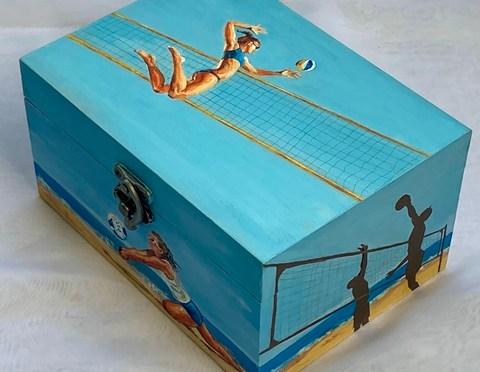 Beach Volleyball on a Box