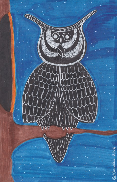 Day-14-Silhouette-Owl-In-Tree