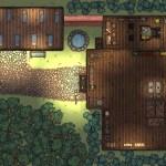 Barking Spider Tavern – First Floor (Made in Dungeondraft)