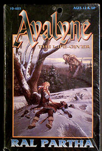 Avaline the Life Giver Box Art Ral Partha Miniatures