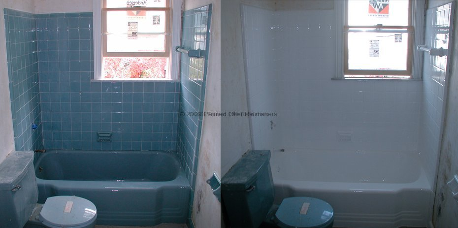 Before Amp After Bathtub Refinishing Tile Reglazing