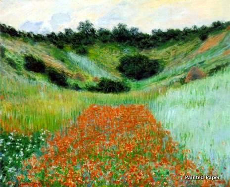 Poppies in Hollow Claude Monet