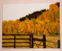 painting of autumn field