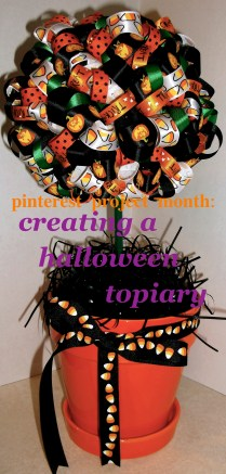 Creating a Halloween Topiary