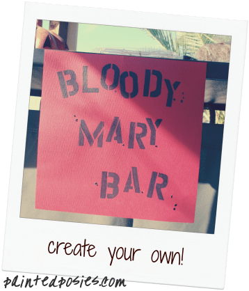 Create your own Bloody Mary Bar