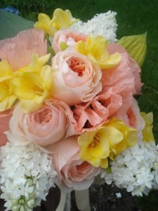 Painted Tulip Bride's Bouquet