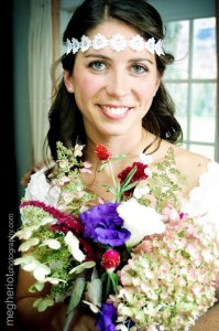 Bride with our flowers