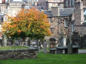 Edinburgh Graveyard in Autum