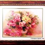 Букет из роз,43 цвета, размер вышивки с рамкой 36,5 х 45,5см. _Катерина Черненко