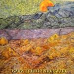 Вольная-копия-картины-Ван-Гога-Пейзаж с восходящей луной х.м.50х60,2012 г. -Vinsenta, С.Сычева