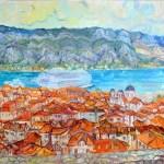 Крыши Адриатики,60х80,холст,масло,-Vinsenta, С.Сычева