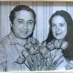 Заказать портрет-Портрет родителей Виктории,бумага,карандаш,20х30,2017г. Олег М.Караваев
