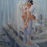 Раненый ангел, холст, масло, 60х80, Дмитрий Косариков