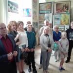 Гости выставки.Выставка Сергея Григорьева
