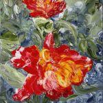 Махровые тюльпаны. холст, масло, 60х40, 2016 г. Елена Смаль