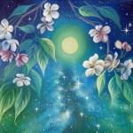 Звездная ночь, акрил, холст 30х40-Анна Стешенко