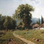 Картина-Художник Константин Крыжицкий-HutorVMalorossii_1884