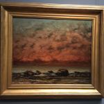Картина-Курбе Гюстав-The Black Rocks at Trouville